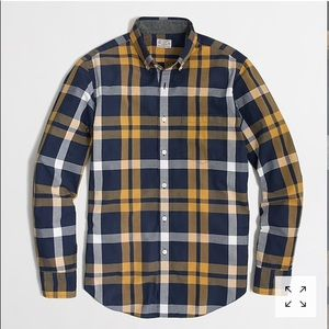 J.Crew factory washed shirt vintage navy tartan